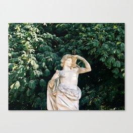 paris statue Canvas Print