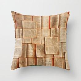 Vintage Novels (Color) Throw Pillow