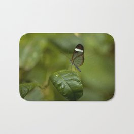 Transparent butterfly Bath Mat