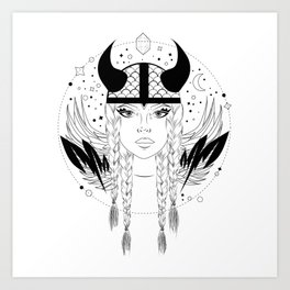 Viking Bitch Art Print