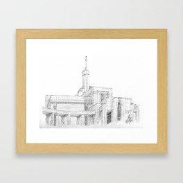 Mt. Timpanogos LDS Temple Framed Art Print
