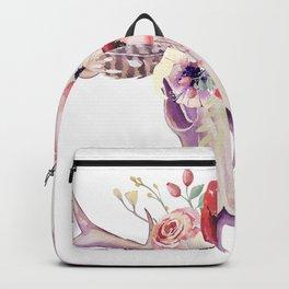 Colorful tribal boho skull Backpack
