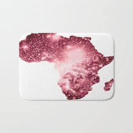 Pink Sparkle Galaxy Africa Bath Mat