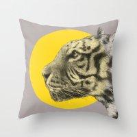 eric fan Throw Pillows featuring Wild 4 by Eric Fan & Garima Dhawan by Garima Dhawan