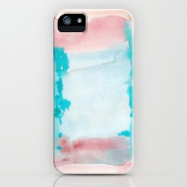 180815 Watercolor Rothko Inspired 9| Colorful Abstract | Modern Watercolor Art iPhone Case