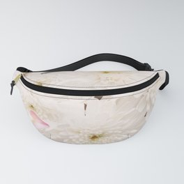 Soft Pink Flower Petals and White Flowers Fanny Pack