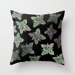 Roses of the Undead Throw Pillow