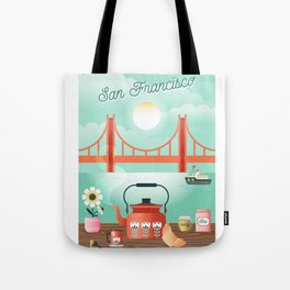 Tea by the bay Tote Bag