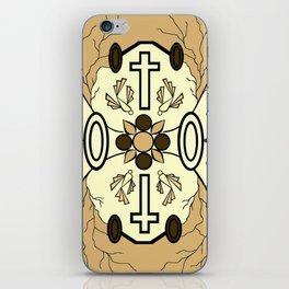 Brown Religion Illustration iPhone Skin