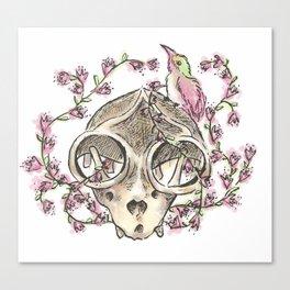 Flowery Animal Skull 04 Canvas Print
