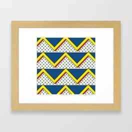 Polka-Dotted Landscape Framed Art Print