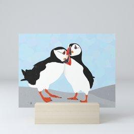 Puffin love you Mini Art Print
