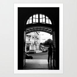 coimbra train station Art Print