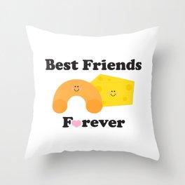 BFF Mac & Cheese Throw Pillow