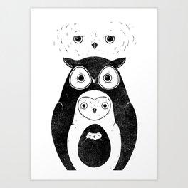 Owlnion - The Owls Art Print