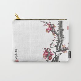 Plum Blossom Two Carry-All Pouch