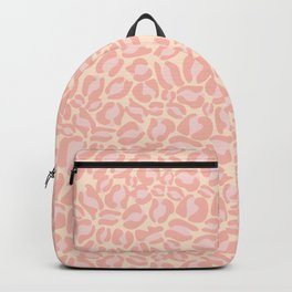 Leopard Print   Pastel Pink Girly Bedroom Cute   Cheetah texture pattern Backpack