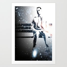 FORREST ON A BENCH & COSMOS Art Print