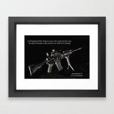2nd Amendment Framed Art Print