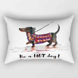 Hot Dachshund dog Rectangular Pillow