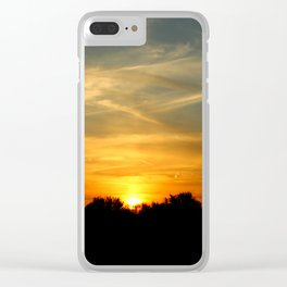 Sunset with Streaky Clouds Clear iPhone Case