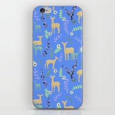 Deer and Flowers iPhone & iPod Skin