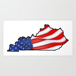Patriotic Kentucky Art Print