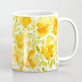 Watercolor California poppies (Quad set, #1) Coffee Mug
