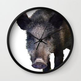 Crazy As A Peach Orchard Boar Vector Wall Clock
