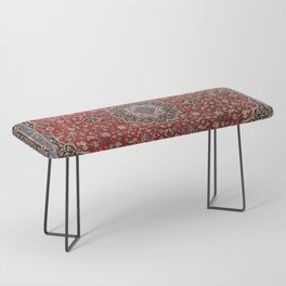 N63 - Red Heritage Oriental Traditional Moroccan Style Artwork Bench