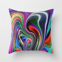 Oriental Vapours Throw Pillow