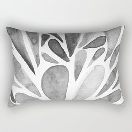 Watercolor artistic drops - black and white Rectangular Pillow