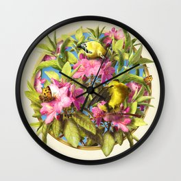 Flowers and Birds 1 Wall Clock