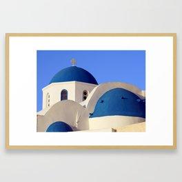 Greek church Gerahmter Kunstdruck