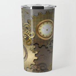 Abstract mechanical design Travel Mug