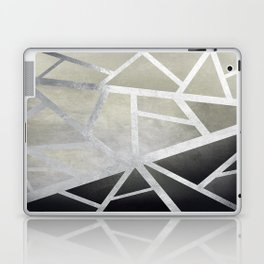 Textured Metal Geometric Gradient With Silver Laptop & iPad Skin