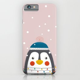 Christmas Animals - Festive Penguin iPhone Case