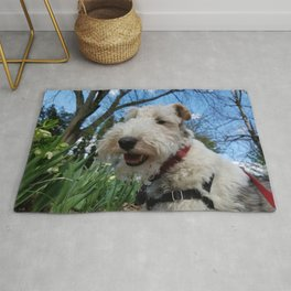 Cheerful Wire Fox Terrier Rug