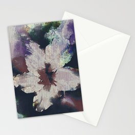 LILY FLOWER ABSTRACT/FOGGY NIGHT Stationery Cards
