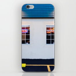 windows of the bar and restaurant in Los Angeles, USA iPhone Skin