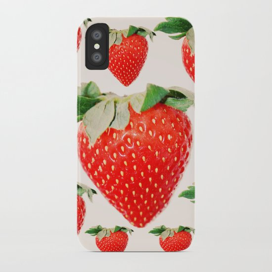 strawberry explosion iPhone Case