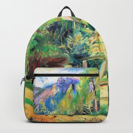 Tyrolean landscape with bridge - Digital Remastered Edition Backpack