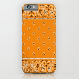 Citrus Orange Bandana iPhone Case