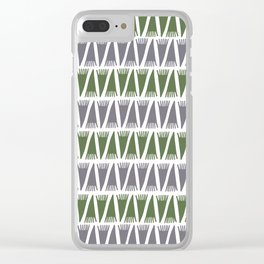 Tee Pee Kale Clear iPhone Case
