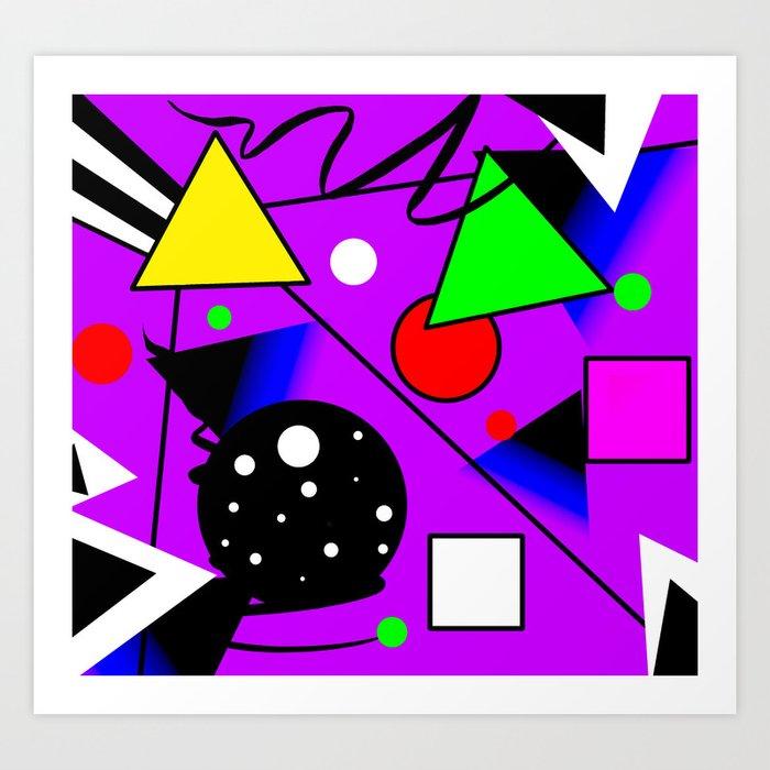 Geometric Shapes Abstract Art Graphic Design Tshirt Kunstdrucke