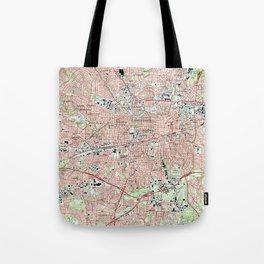 Greensboro North Carolina Map (1997) Tote Bag
