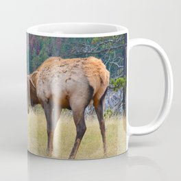Bull elk in the rut season in Jasper National Park Coffee Mug