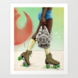Skate Wars - Rebel Alliance Art Print