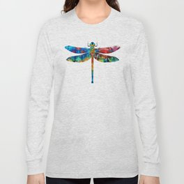 Colorful Dragonfly Art By Sharon Cummings Long Sleeve T-shirt