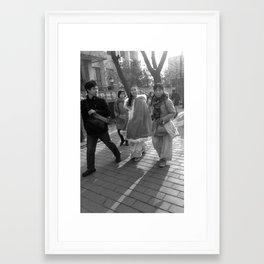 Beijing street life Framed Art Print